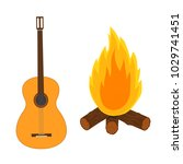 guitar and campfire. isolated...   Shutterstock .eps vector #1029741451