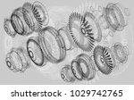 mechanical diagram  vector... | Shutterstock .eps vector #1029742765