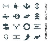 arrows icons. set of 16... | Shutterstock .eps vector #1029743359