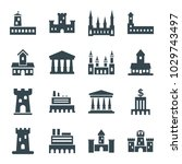 museum icons. set of 16... | Shutterstock .eps vector #1029743497