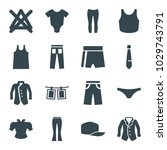 clothes icons. set of 16... | Shutterstock .eps vector #1029743791