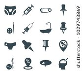 needle icons. set of 16... | Shutterstock .eps vector #1029743869