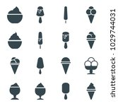 vanilla icons. set of 16... | Shutterstock .eps vector #1029744031