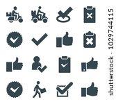 ok icons. set of 16 editable... | Shutterstock .eps vector #1029744115