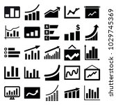 statistic icons. set of 25...   Shutterstock .eps vector #1029745369