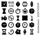 timer icons. set of 25 editable ... | Shutterstock .eps vector #1029745549