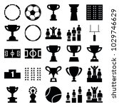 championship icons. set of 25... | Shutterstock .eps vector #1029746629