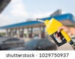 fuel nozzle fuel yellow holder...   Shutterstock . vector #1029750937