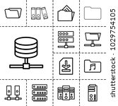 archive icons. set of 13... | Shutterstock .eps vector #1029754105
