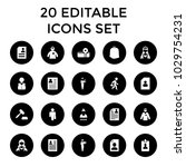 occupation icons. set of 20... | Shutterstock .eps vector #1029754231
