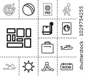 vacation icons. set of 13...   Shutterstock .eps vector #1029754255