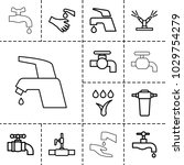 faucet icons. set of 13... | Shutterstock .eps vector #1029754279