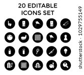 hobby icons. set of 20 editable ... | Shutterstock .eps vector #1029755149