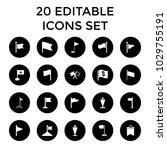 pennant icons. set of 20... | Shutterstock .eps vector #1029755191