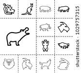 wild icons. set of 13 editable... | Shutterstock .eps vector #1029757315