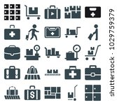 suitcase icons. set of 25...   Shutterstock .eps vector #1029759379