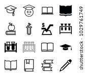 study icons. set of 16 editable ... | Shutterstock .eps vector #1029761749