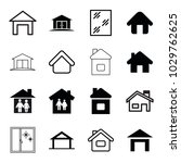 residence icons. set of 16... | Shutterstock .eps vector #1029762625
