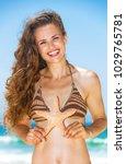 blue sea  white sand paradise.... | Shutterstock . vector #1029765781