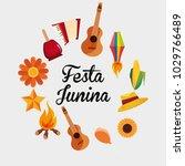 festa junina design | Shutterstock .eps vector #1029766489