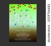 happy brazilian carnival day.... | Shutterstock .eps vector #1029766681