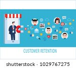 customer retention strategy ... | Shutterstock .eps vector #1029767275