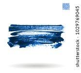 blue brush stroke and texture.... | Shutterstock .eps vector #1029769045