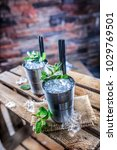 mint julep cocktail alcoholic... | Shutterstock . vector #1029769501