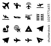 solid vector icon set   plane... | Shutterstock .eps vector #1029771655