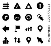 solid vector icon set   sign... | Shutterstock .eps vector #1029771835