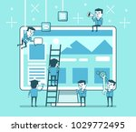 abstract web site creation... | Shutterstock .eps vector #1029772495