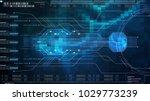 hi tech user interface head up... | Shutterstock . vector #1029773239