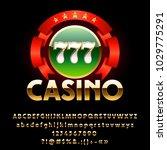 vector luxury shiny casino... | Shutterstock .eps vector #1029775291