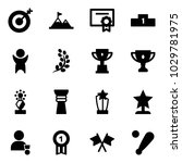 solid vector icon set   target... | Shutterstock .eps vector #1029781975