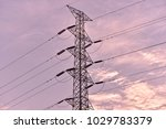 hight voltage electric towers... | Shutterstock . vector #1029783379