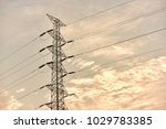 hight voltage electric towers... | Shutterstock . vector #1029783385