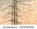 hight voltage electric towers... | Shutterstock . vector #1029783505