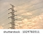 hight voltage electric towers... | Shutterstock . vector #1029783511