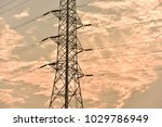 hight voltage electric towers... | Shutterstock . vector #1029786949