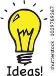 a light bulb | Shutterstock .eps vector #1029789367
