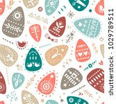 vector hand drawn easter... | Shutterstock .eps vector #1029789511