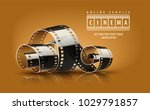 movie film reel. cinematography ... | Shutterstock .eps vector #1029791857