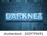 darknet word made from metallic ... | Shutterstock . vector #1029795691