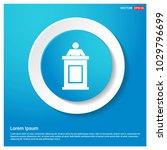 speaker at rostrum icon... | Shutterstock .eps vector #1029796699