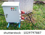 moveable outdoor power control... | Shutterstock . vector #1029797887