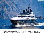 super yacht underway near...   Shutterstock . vector #1029801667