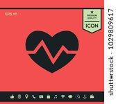 heart medical icon | Shutterstock .eps vector #1029809617