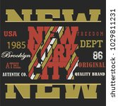typography sport new york t... | Shutterstock . vector #1029811231