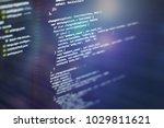 html web design code for...   Shutterstock . vector #1029811621