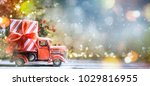 christmas and new year... | Shutterstock . vector #1029816955